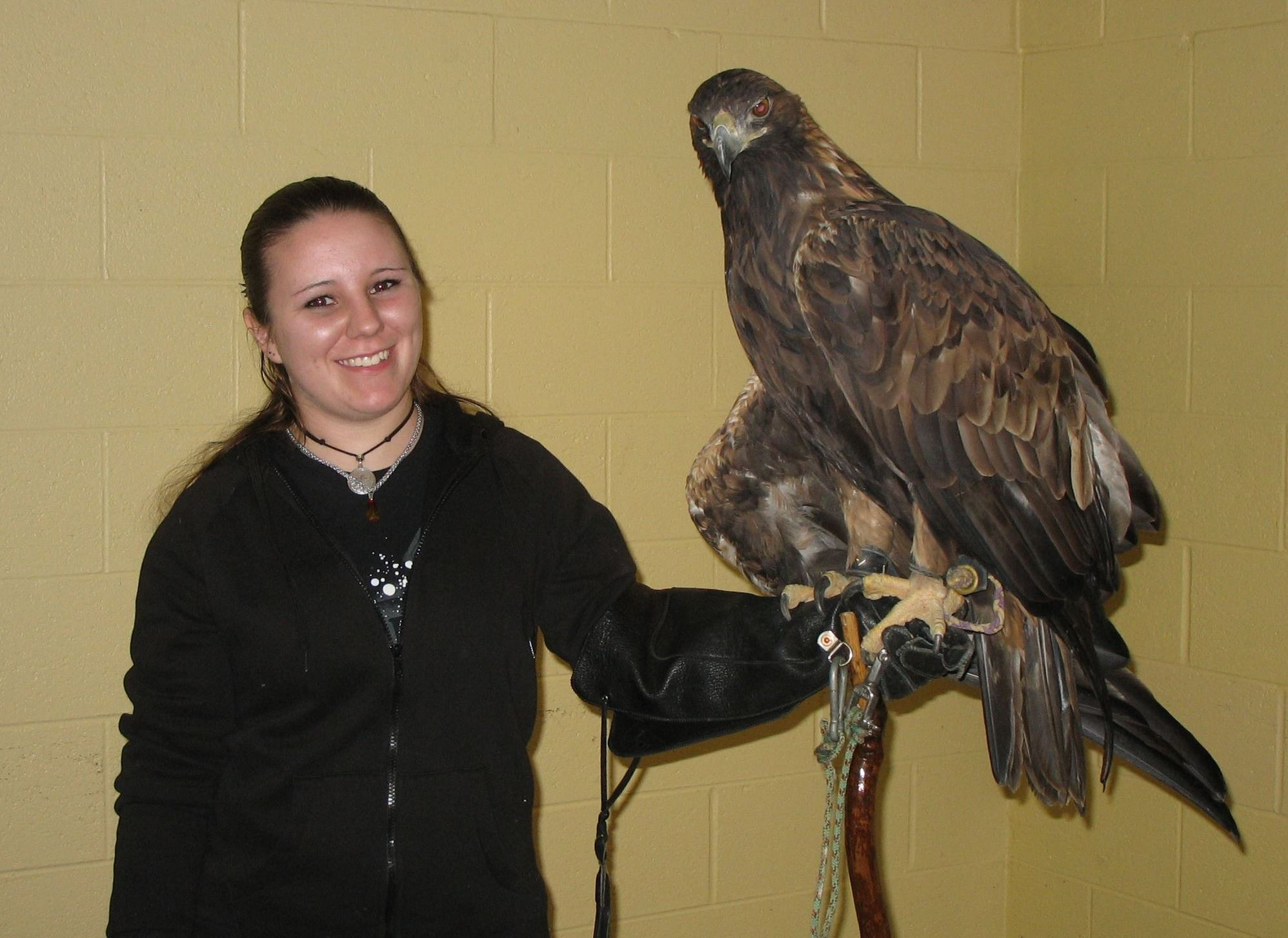 Jessica  with Golden Eagle