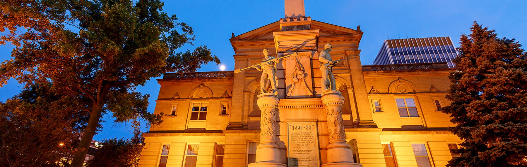 St. Joseph County Court House #1 and Civil War Memorial